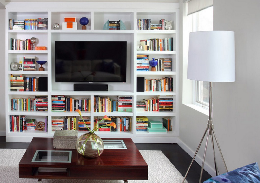 Alcove shelving design