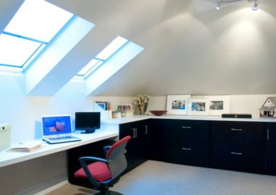 Attic conversion into office