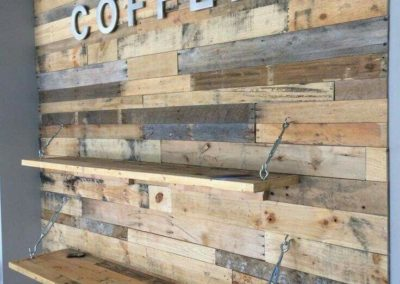 coffee shop wall panelling